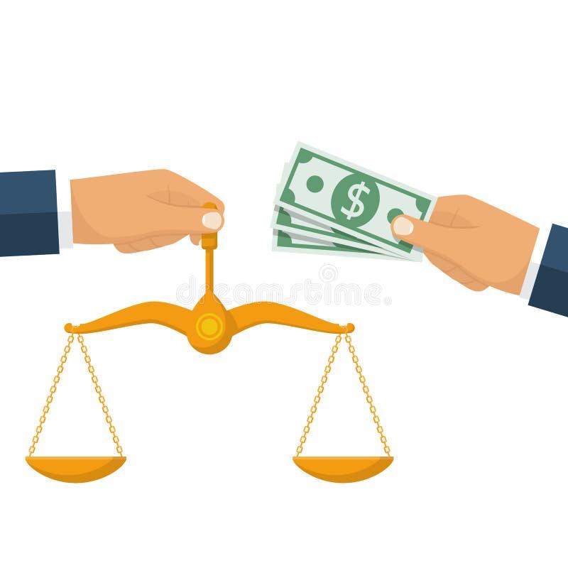 腐败评断概念 向量例证