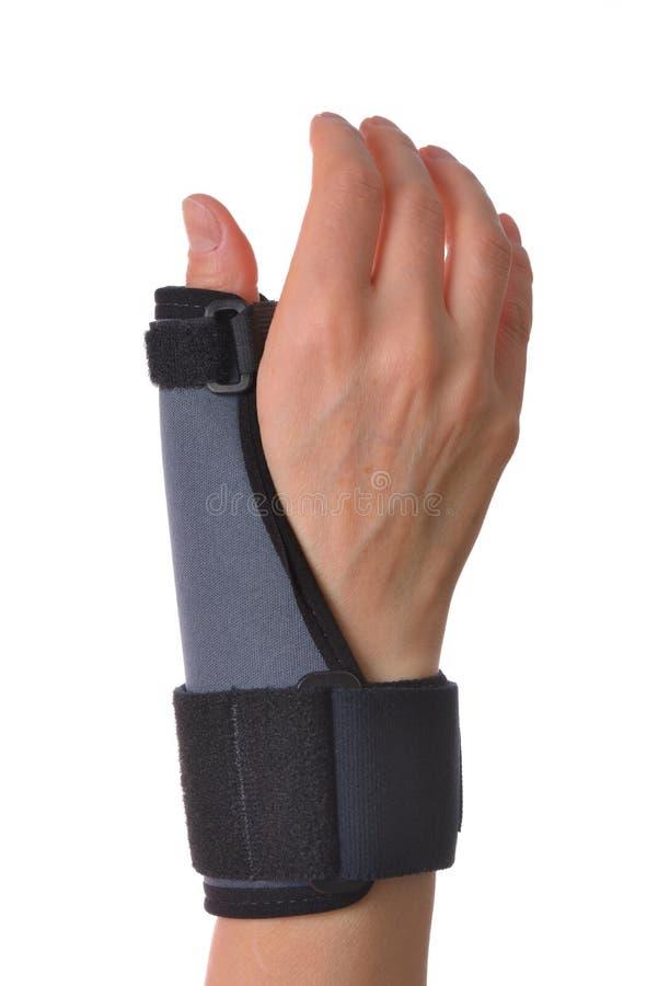 腕子和拇指括号安定器 免版税库存图片