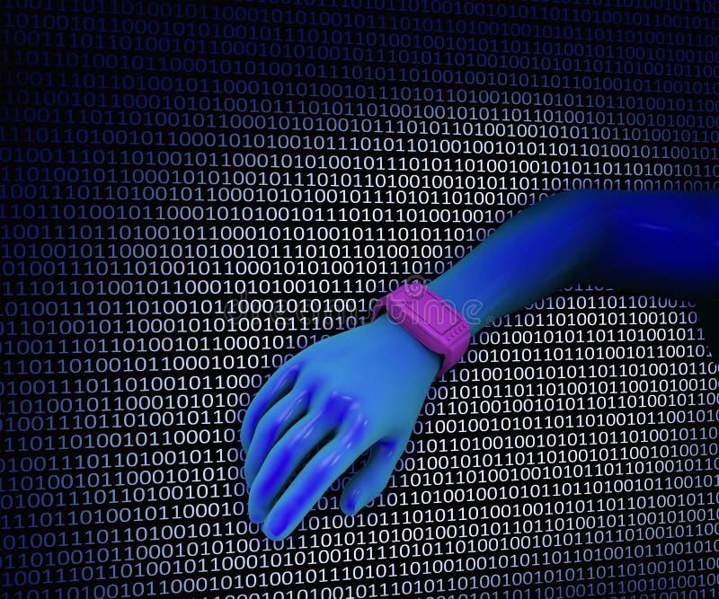 腕子计算机 向量例证