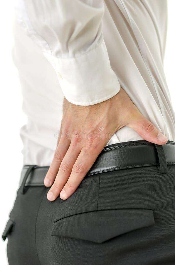 腰下部痛 免版税库存照片
