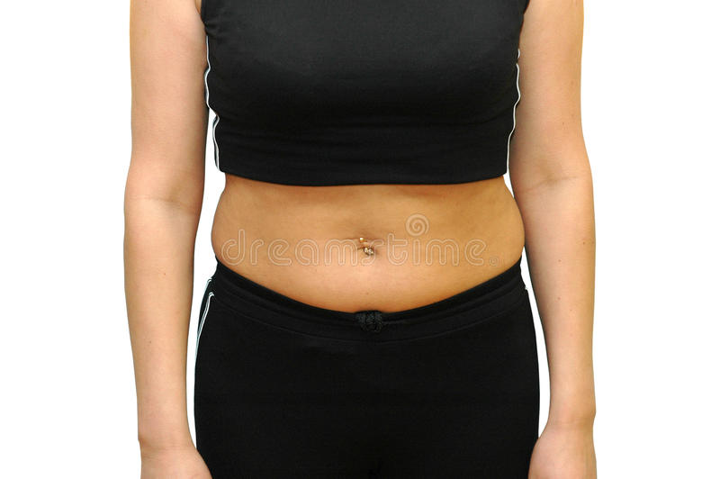 腹部油脂健身 免版税库存图片