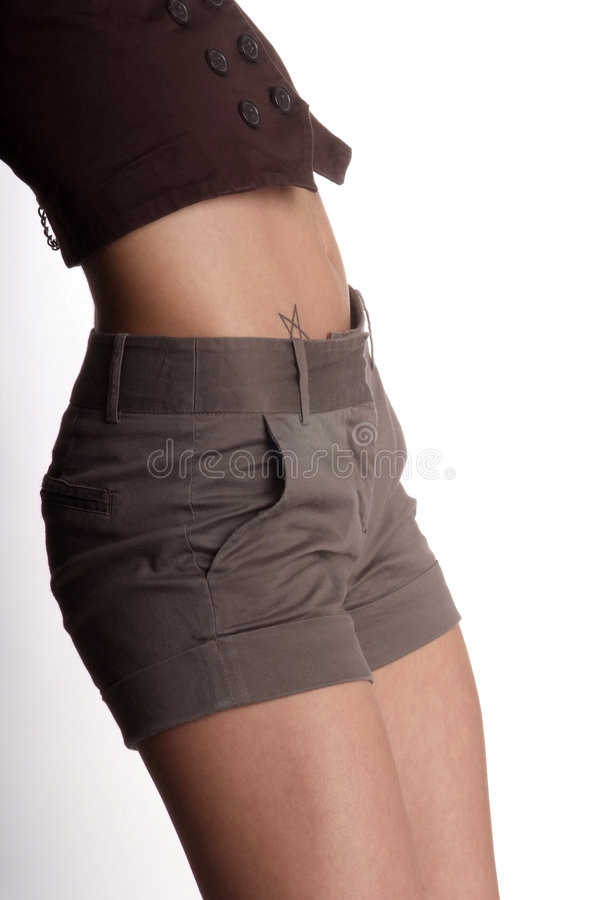 腹部臀部 免版税库存照片