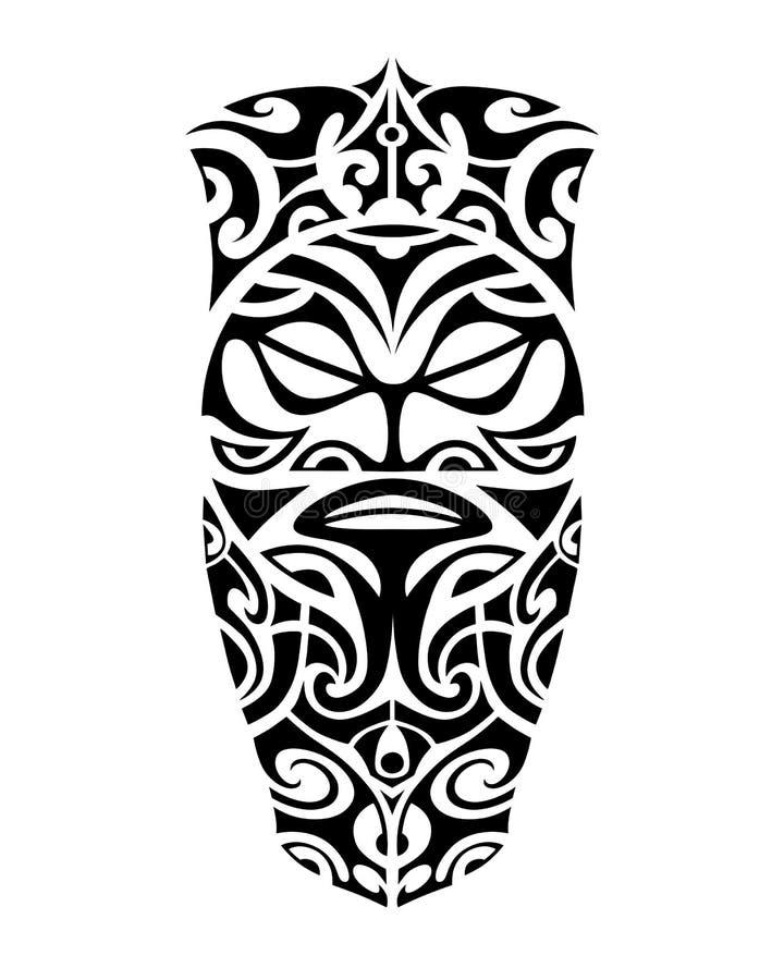 腿或肩膀的纹身花刺剪影毛利人样式 向量例证