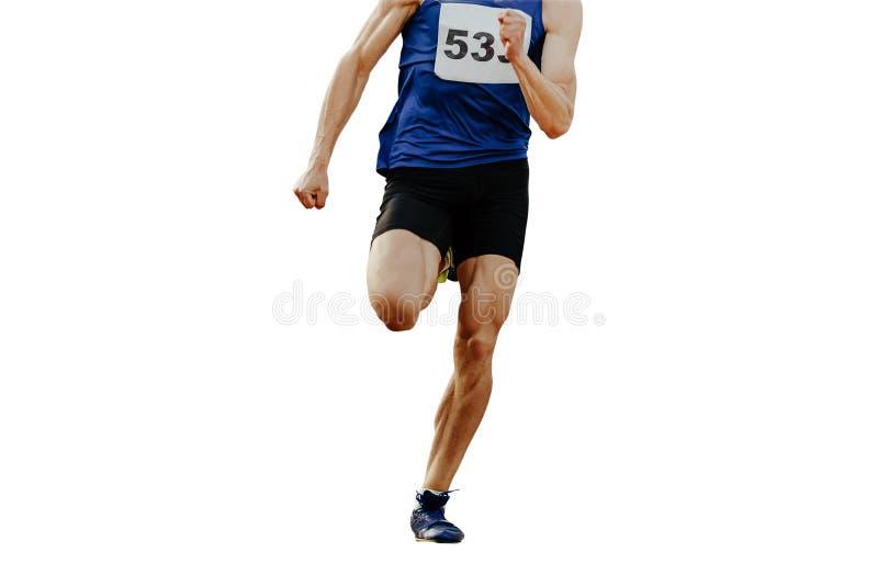 腿短跑选手人赛跑者 免版税库存照片