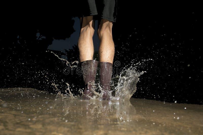 腿水雨 免版税库存照片