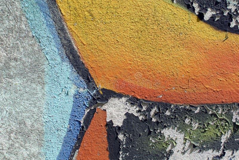 膏药墙壁纹理的五颜六色的关闭背景和有趣的纹理的 免版税库存照片