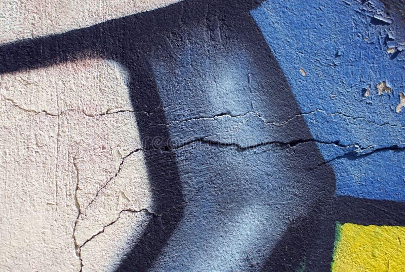 膏药墙壁纹理的五颜六色的关闭背景和有趣的纹理的 免版税库存图片