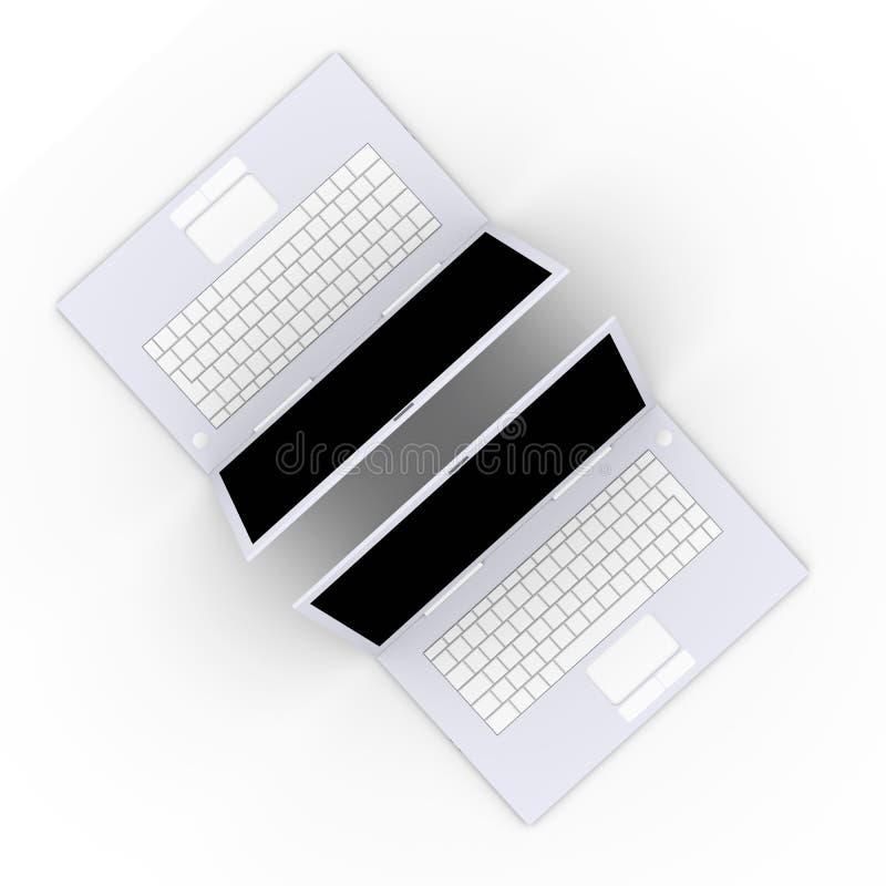 膝上型计算机二 库存例证