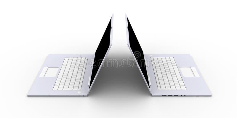 膝上型计算机二 皇族释放例证