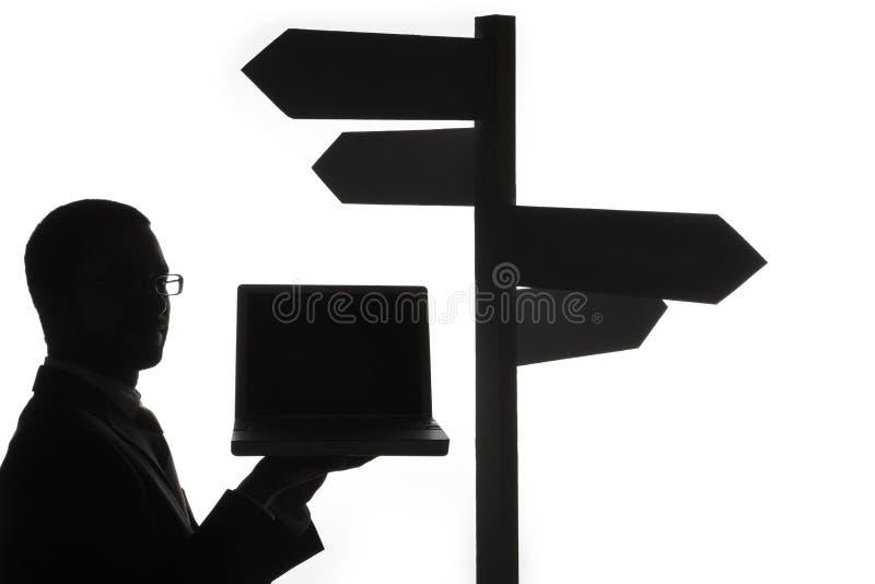 膝上型计算机人符号 免版税库存图片
