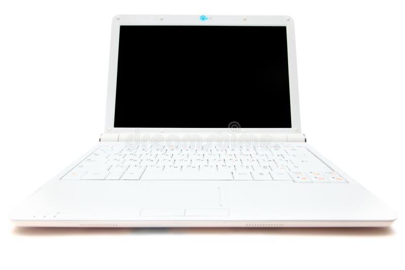 膝上型计算机微型白色 免版税库存图片