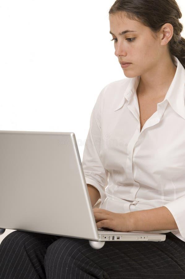 膝上型计算机用户 免版税图库摄影
