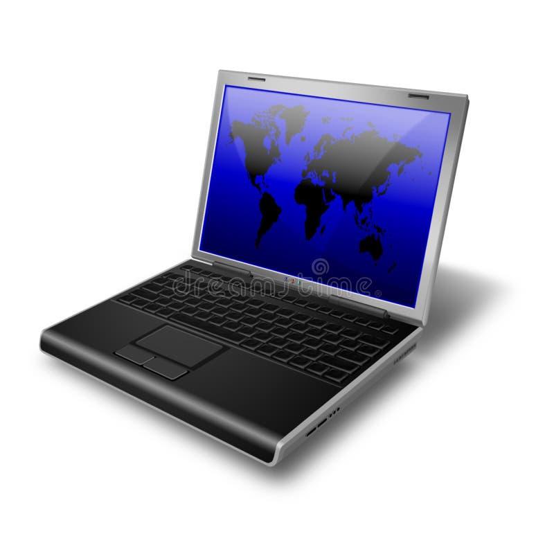 膝上型计算机笔记本 向量例证