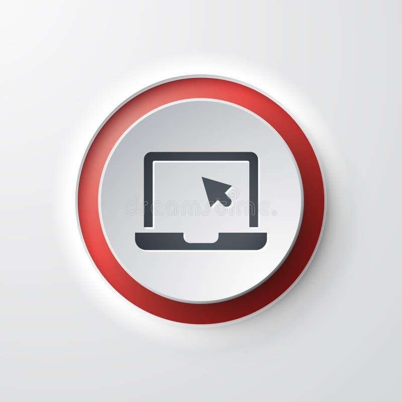 膝上型计算机网象 库存例证