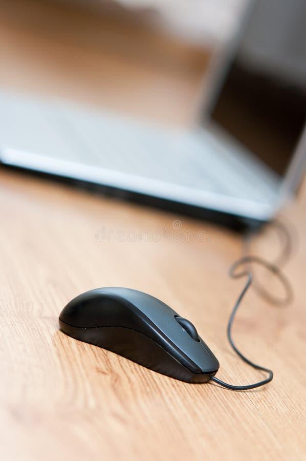 膝上型计算机鼠标 库存图片