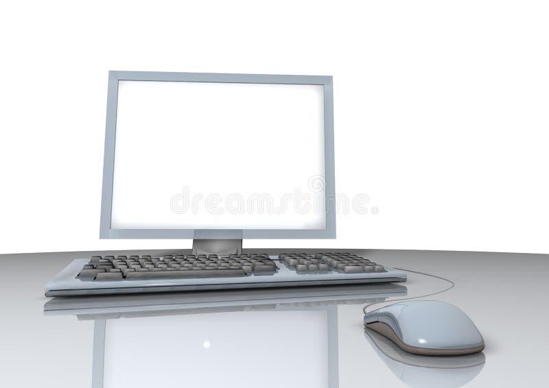 膝上型计算机鼠标 皇族释放例证