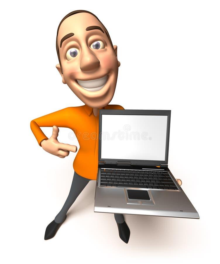 膝上型计算机 皇族释放例证