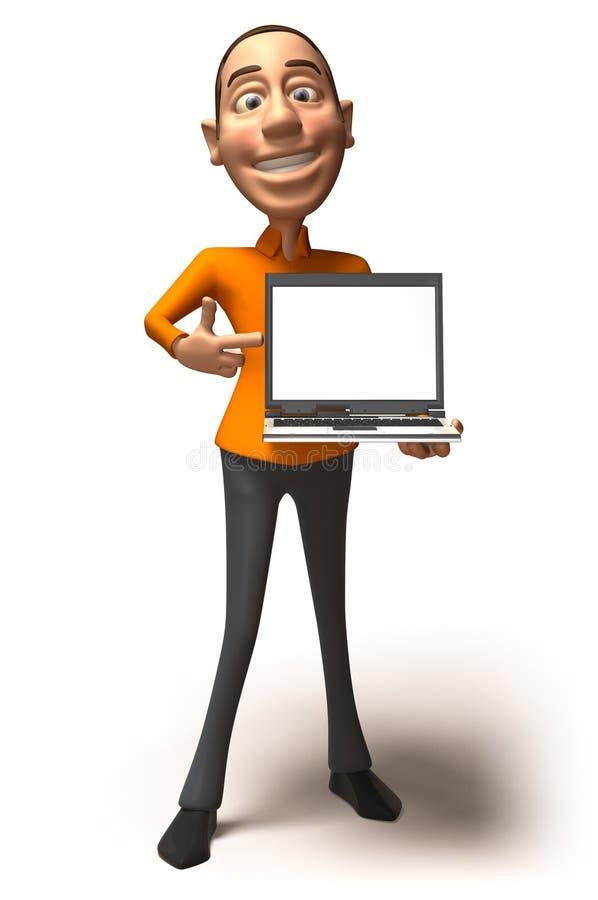 膝上型计算机 向量例证