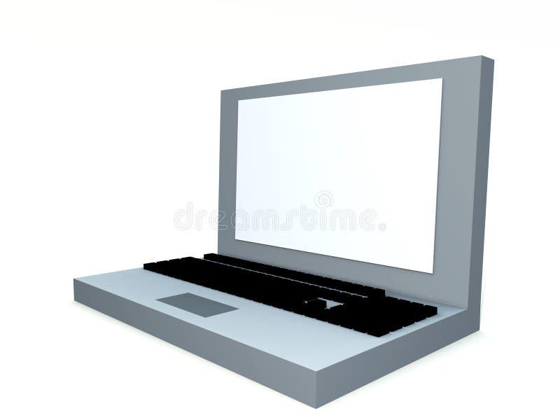 膝上型计算机6 向量例证