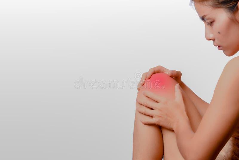 膝盖扭伤 免版税库存照片
