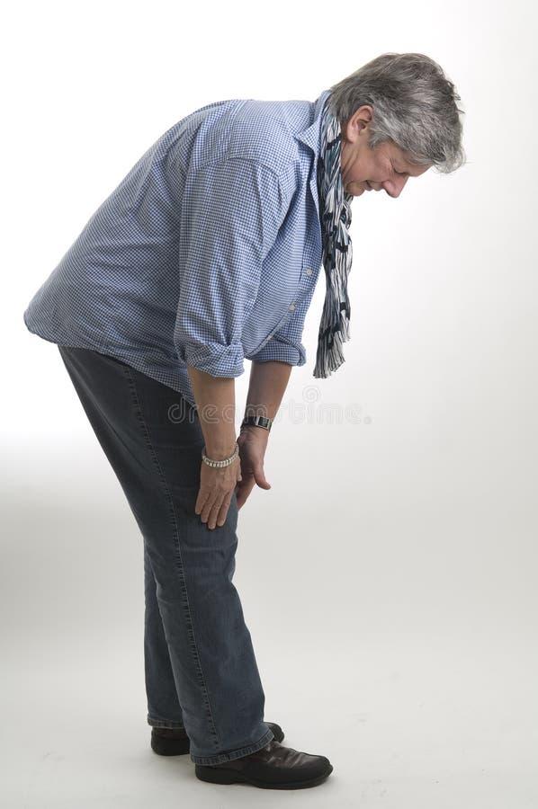 膝盖痛苦 免版税库存照片