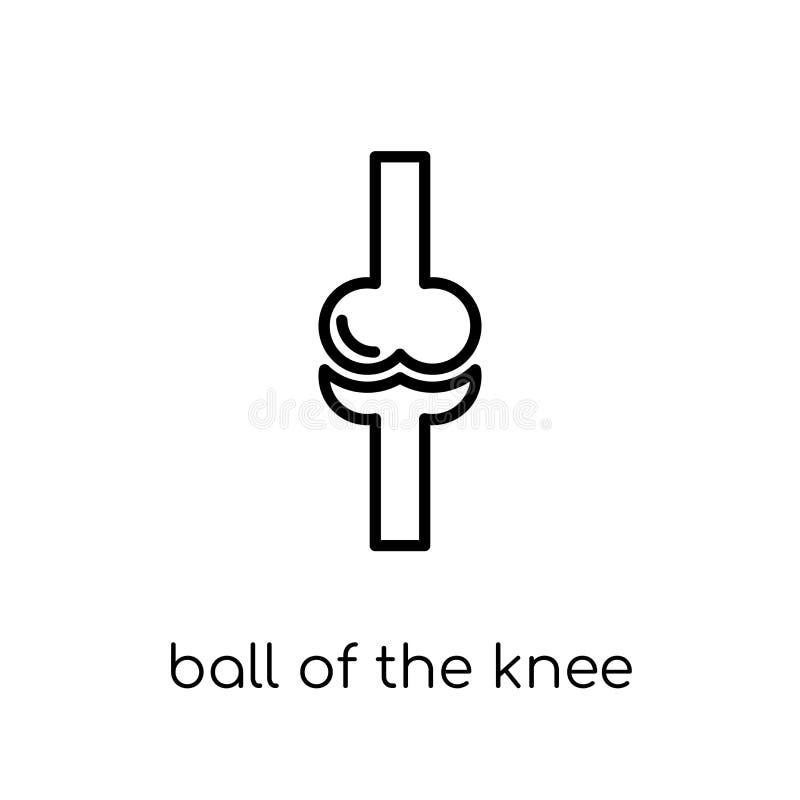 膝盖象的球 时髦现代平的线性传染媒介球  向量例证