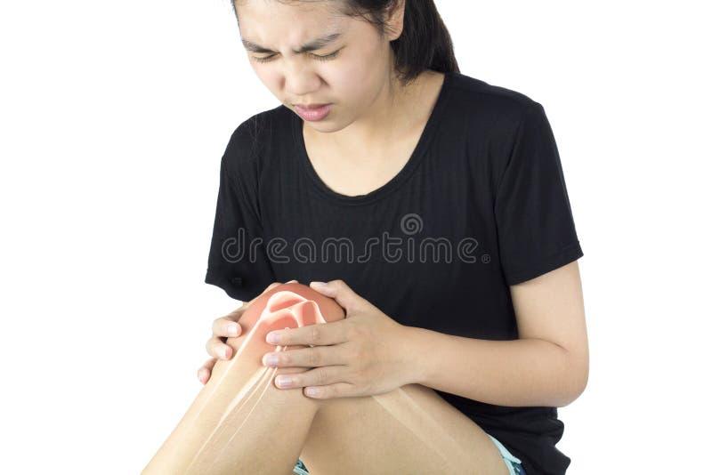 膝盖骨疼痛 免版税库存图片