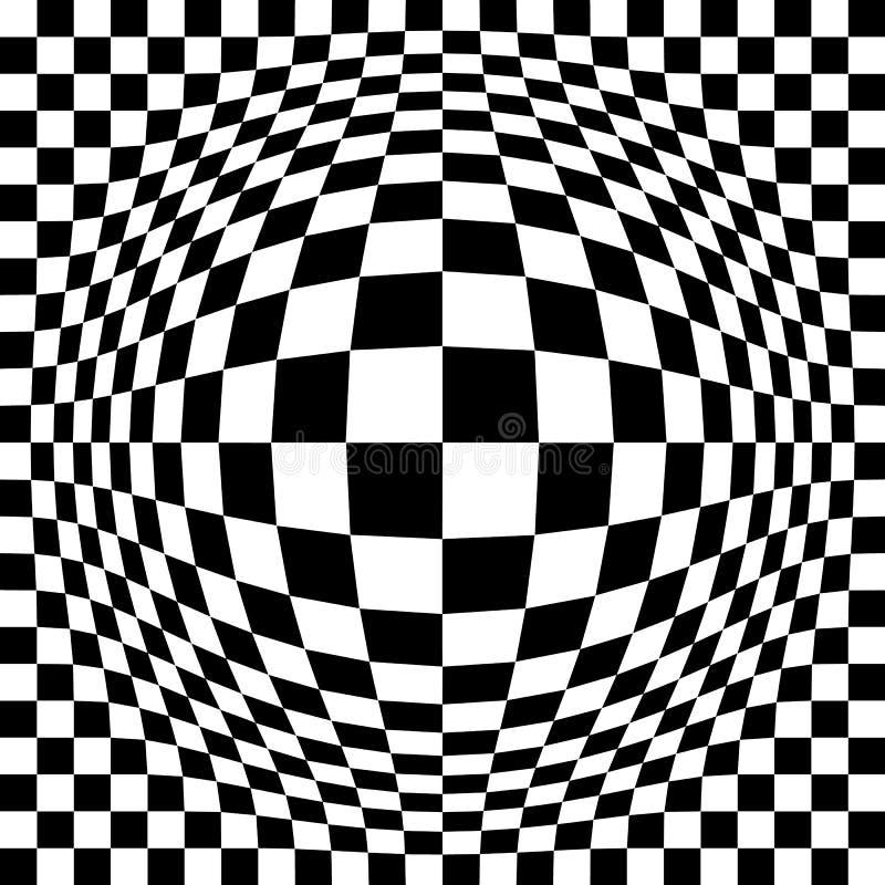 膨胀的光学检查 向量例证