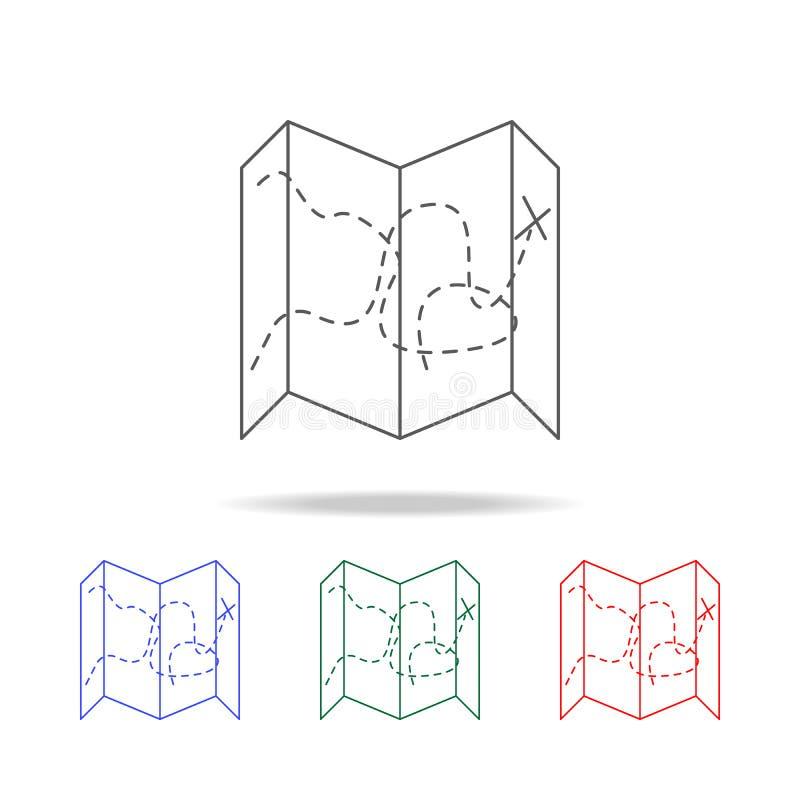 膨胀的地图象 野营的多色的象的元素 优质质量图形设计象 网站的简单的象,网des 库存例证