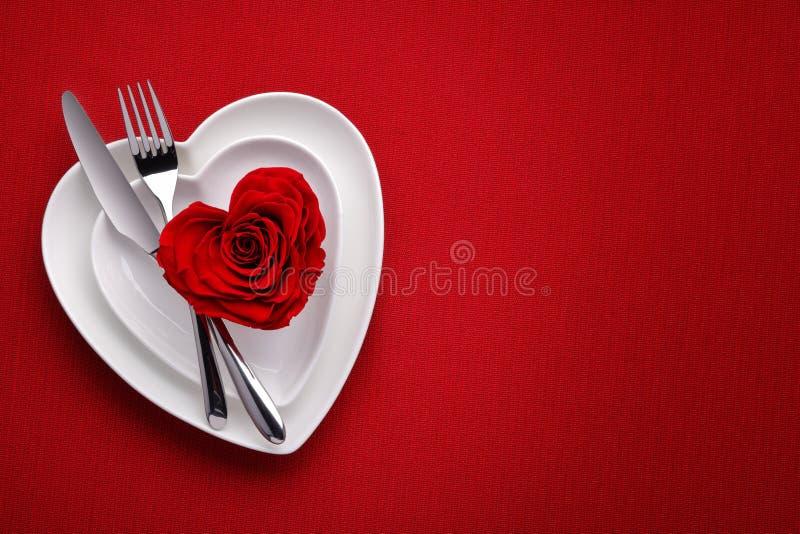 膳食在情人节 免版税库存照片