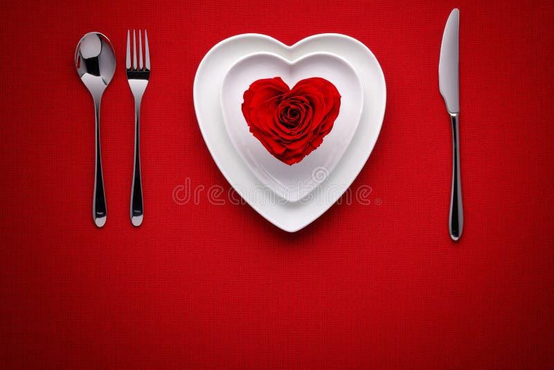 膳食在情人节 库存图片