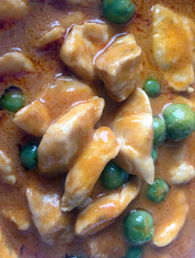 膳食的Panang或Panaeng鸡泰国样式咖喱食物能吃 免版税库存图片