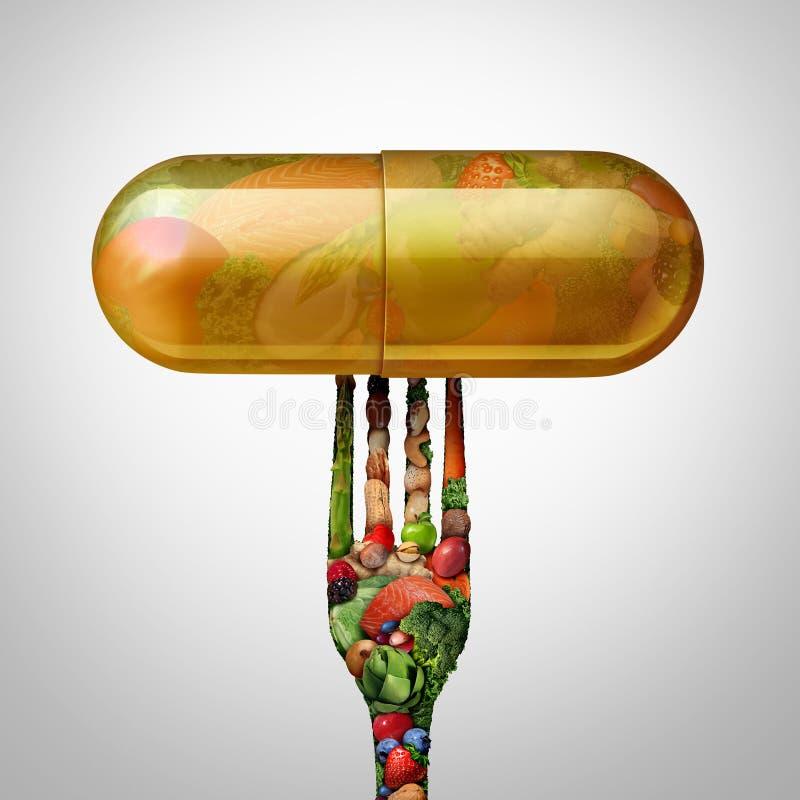 膳食补充剂胶囊 库存例证