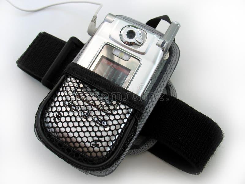 臂章MP3播放器 库存照片