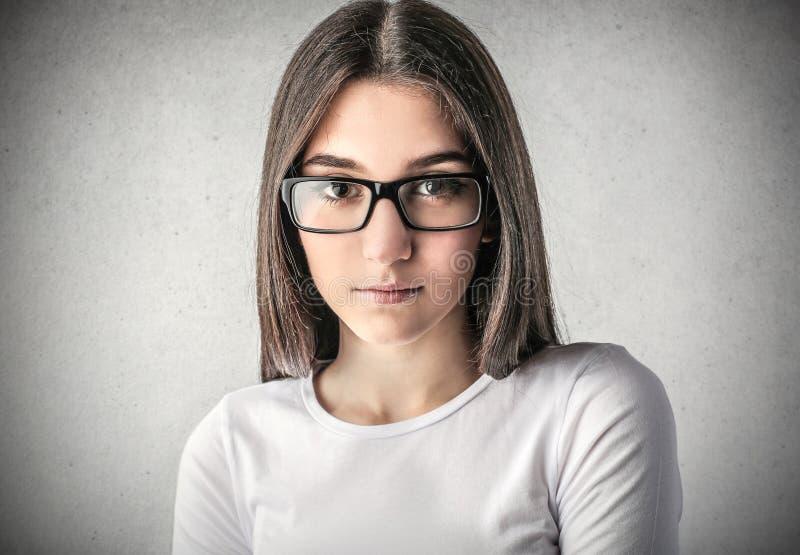 自信女孩 免版税库存照片