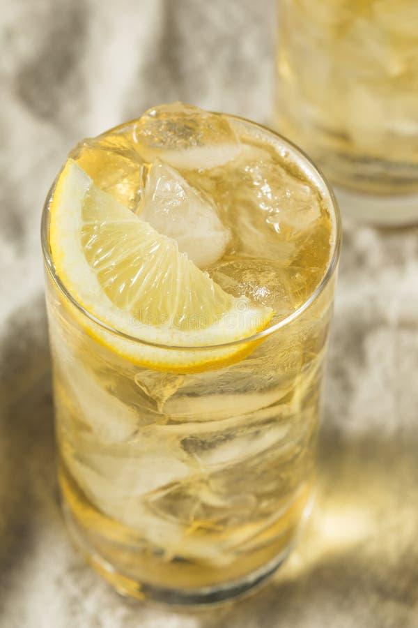 自创七和七威士忌酒HIghball 图库摄影