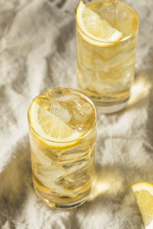 自创七和七威士忌酒HIghball 免版税图库摄影