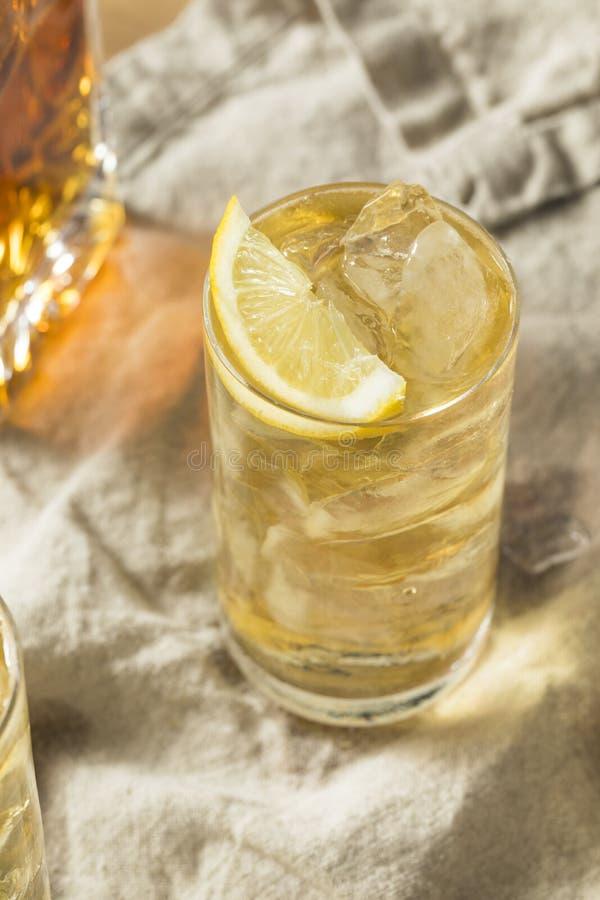 自创七和七威士忌酒HIghball 免版税库存照片