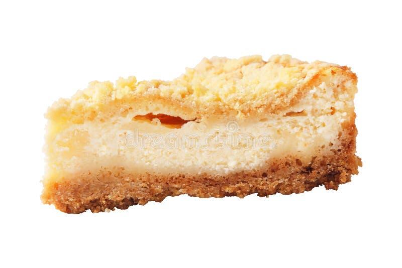 自创凝乳饼片断  免版税库存图片