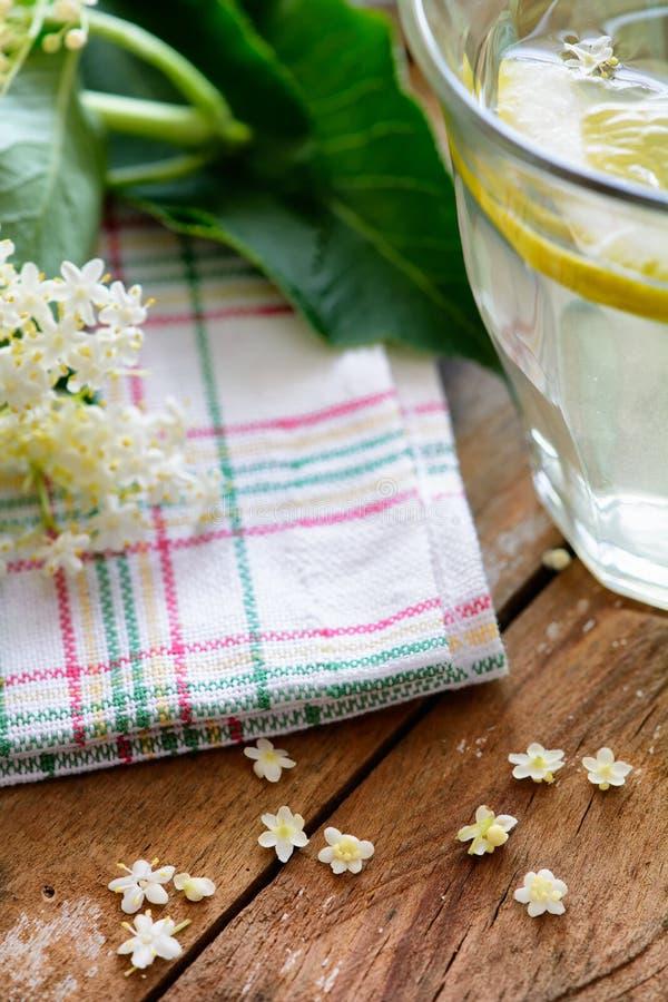 自创刷新的健康夏天接骨木浆果 库存照片