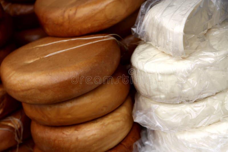 自创圆的乳酪 图库摄影