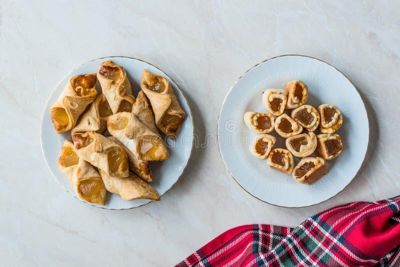 自创土耳其快乐糖曲奇饼/饼干通常供食用茶 免版税图库摄影
