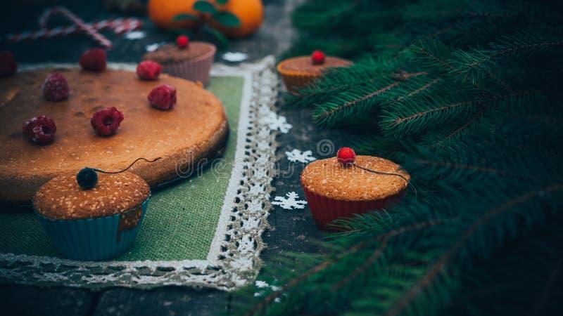自创圣诞节饼 库存图片