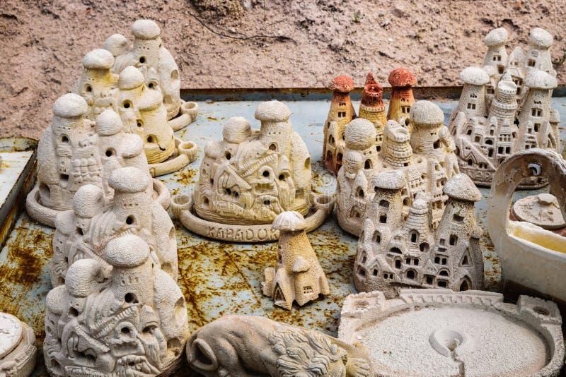 自创房子纪念品在卡帕多细亚 库存图片