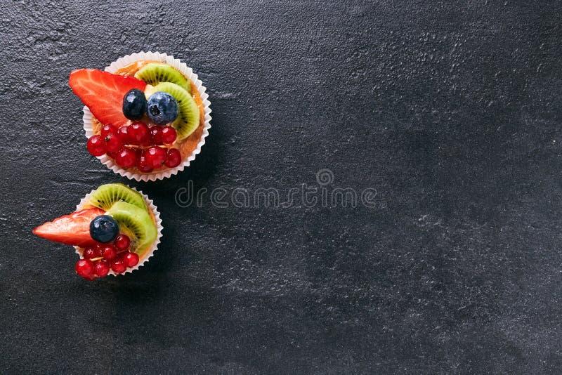 自创新鲜水果的馅饼  库存照片