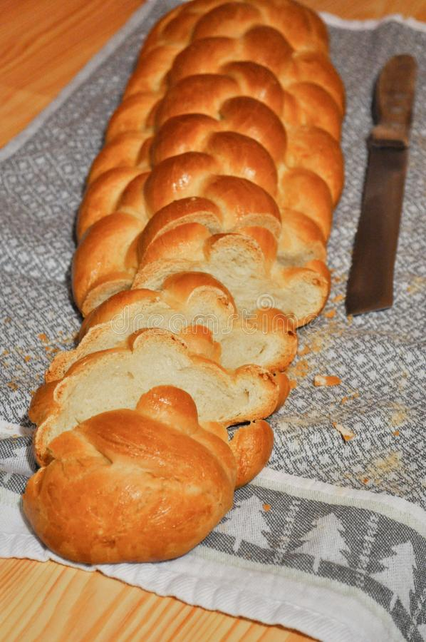 自创星期天面包 库存图片