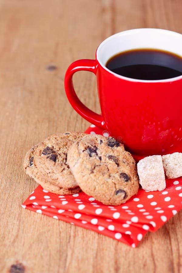 自创曲奇饼用咖啡 免版税库存照片