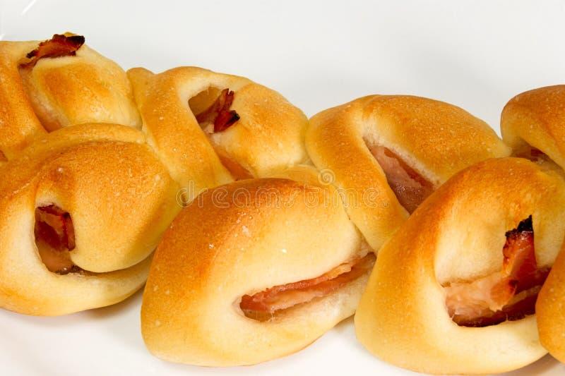 自创烟肉面包 免版税图库摄影