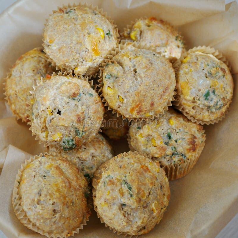 自创玉米美味松饼篮子  库存照片