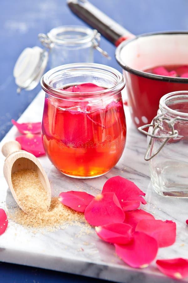 自创玫瑰色果冻 图库摄影